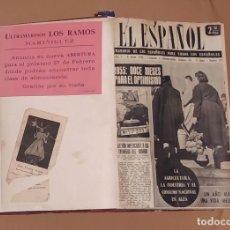 Coleccionismo de Revistas y Periódicos: SEMANARIO EL ESPAÑOL. ENERO-ABRIL 1955 NOS.318 AL 334. FUTBOL, CAMILO H . CELA .... Lote 221947620