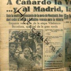 Coleccionismo de Revistas y Periódicos: MUNDO DEPORTIVO AÑO 1936 EZQUERRA CAÑARDO ORBEA RADIO BARCELONA FUTBOL CLUB BARCELONA REAL MADRID. Lote 221988807