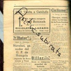 Coleccionismo de Revistas y Periódicos: MUNDO DEPORTIVO AÑO 1936 CACAOLAT JOSE BOTANACH MARTINEZ SAGI MOTOS BSA COCHES JOSE GUILLOT. Lote 221989735