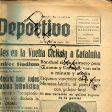 Coleccionismo de Revistas y Periódicos: MUNDO DEPORTIVO AÑ 1936 VUELTA CICLISTA CATALUÑA EZQUERRA GIMENO CAÑARDO MANRESA TELUM MOTOS NORTON. Lote 221990223