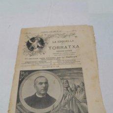 Coleccionismo de Revistas y Periódicos: LA ESQUELLA DE LA TORRATXA Nº 1222, JUNY 1902, MORT DE JACINT VERDAGUER.. Lote 221998807