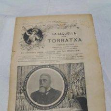 Coleccionismo de Revistas y Periódicos: LA ESQUELLA DE LA TORRATXA Nº 1306, JANER 1904. AUCA ELS CINQUANTA DEL AJUNTAMENT. Lote 221999445