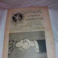Coleccionismo de Revistas y Periódicos: LA ESQUELLA DE LA TORRATXA Nº 1307, JANER 1904.. Lote 221999822
