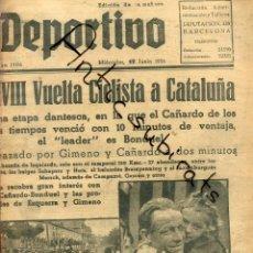 Coleccionismo de Revistas y Periódicos: MUNDO DEPORTIVO AÑO 1936 VUELTA CICLISTA CATALUÑA GIMENO CAÑARDO EN MANRESA BONDUEL. Lote 222003842
