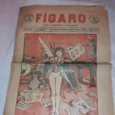 Coleccionismo de Revistas y Periódicos: DIARIO FÍGARO, AÑO 1 Nº 1, 25 NOVIEMBRE 1903. Lote 222003880