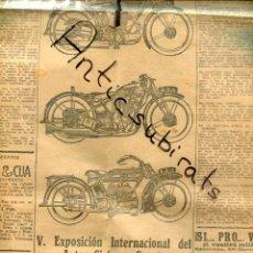 Coleccionismo de Revistas y Periódicos: MUNDO DEPORTIVO AÑO 1927 PUBLICIDAD DE MOTOS N.S.U. NEUMATICOS DELTA KLEIN B.S.A. LAZARO Y LOPEZ. Lote 222007525