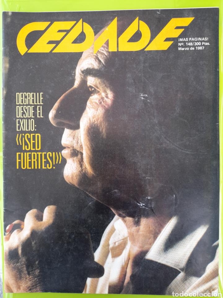REVISTA CEDADE. NO. 148, MARZO DE 1987 (Coleccionismo - Revistas y Periódicos Modernos (a partir de 1.940) - Otros)