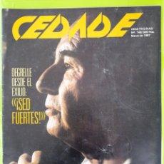 Coleccionismo de Revistas y Periódicos: REVISTA CEDADE. NO. 148, MARZO DE 1987. Lote 222008045