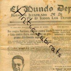 Coleccionismo de Revistas y Periódicos: MUNDO DEPORTIVO AÑO 1927 ROS MARTINEZ CICLONE LLACH COLA RAYO BOXEADOR ACCIDENTE DE PEDROL. Lote 222008087