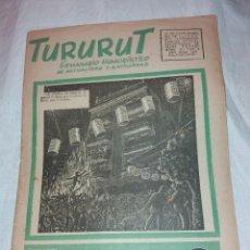 Coleccionismo de Revistas y Periódicos: SEMANARIO HUMORISTICO TURURUT, Nº 22 JUNIO 1953, TINET, ESCOBAR, NADAL.... Lote 222012815
