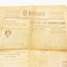 Coleccionismo de Revistas y Periódicos: PERIODICO EL ADELANTO DE SALAMANCA. NOVIEMBRE DE 1938. GUERRA CIVIL. SIERRA DE PANDOLS Y CABALLS. Lote 222015348