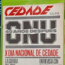 Coleccionismo de Revistas y Periódicos: REVISTA CEDADE. NO. 137, DICIEMBRE DE 1985. Lote 222015635