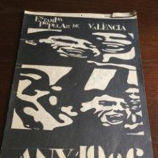 Coleccionismo de Revistas y Periódicos: CALENDARIO POPULAR VALENCIA 1966. Lote 222041003