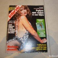 Coleccionismo de Revistas y Periódicos: REVISTA INTERVIU MADONNA DESNUDA. Lote 222047305