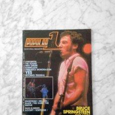 Coleccionismo de Revistas y Periódicos: POPULAR 1 - 1984 - BRUCE SPRINGSTEEN, THE CARS, MANOWAR, SLADE, NEW ORDER, BARRICADA, YES, THE CURE. Lote 222110670