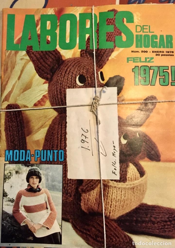 EXTRAORDINARIO LOTE REVISTAS DE LABORES DEL HOGAR + FICHAS FABRA COATS + PATRONES (Coleccionismo - Revistas y Periódicos Modernos (a partir de 1.940) - Otros)