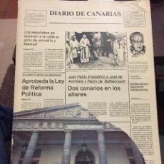 Coleccionismo de Revistas y Periódicos: DIARIO DE CANARIAS. ORTEGA ABRAHAM. PRIMERA ED. MAYO 1984. Lote 222166590