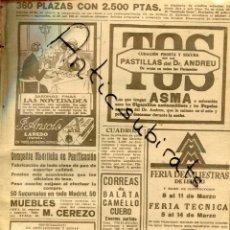 Coleccionismo de Revistas y Periódicos: ABC AÑO 1923 SARDINAS LAS NOVEDADES ANSOLA DE LAREDO CORREAS BALATA CAMELLO CUERO PATATAS FERNANDEZ. Lote 222220565