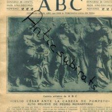 Coleccionismo de Revistas y Periódicos: ABC AÑO 1923 MERCADO DE CANGAS VIGO FRANCISCO PRADILLA CHOPIN EN VALLDEMOSA FELIX BOIX TRAJE D AVILA. Lote 222226150