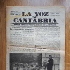 Coleccionismo de Revistas y Periódicos: LA VOZ DE CANTABRIA - 10 DE ABRIL DE 1931. Lote 222227257