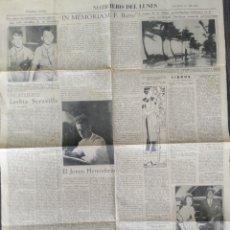 Coleccionismo de Revistas y Periódicos: HOJA DEL DIARIO EL NOTICIARIO DEL LUNES .10 AGOSTO 1936.60CMX44CM. Lote 222233620