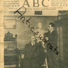 Coleccionismo de Revistas y Periódicos: ABC AÑO 1923 JACINTO BENAVENTE ESCULTOR AMAYA CARICATURA FLETA RIO MANZANARES EN MADRID. Lote 222236416