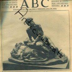 Coleccionismo de Revistas y Periódicos: ABC AÑO 1923 ESCULTURA ESCULTURA JOSE PIQUER DUART FARMACIA LABORATORIO VIDAL RIBAS SOIVRE. Lote 222237911