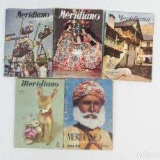 Coleccionismo de Revistas y Periódicos: LOTE DE REVISTAS MERIDIANO 1949-53-55-58 SINTESIS DE LA PRENSA MUNDIAL. Lote 222330883