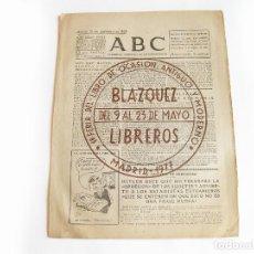 Coleccionismo de Revistas y Periódicos: DIARIO REPUBLICANO DE IZQUIERDAS ABC MADRID. BANDO REPUBLICANO. 13 DE SEPTIEMBRE 1938. GUERRA CIVIL. Lote 222369855