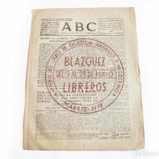Coleccionismo de Revistas y Periódicos: DIARIO REPUBLICANO DE IZQUIERDAS ABC MADRID. BANDO REPUBLICANO. 18 DE SEPTIEMBRE 1938. GUERRA CIVIL. Lote 222370178