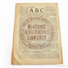 Coleccionismo de Revistas y Periódicos: DIARIO REPUBLICANO DE IZQUIERDAS ABC MADRID. BANDO REPUBLICANO. 20 DE SEPTIEMBRE 1938. GUERRA CIVIL. Lote 222370243