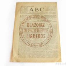 Coleccionismo de Revistas y Periódicos: DIARIO REPUBLICANO DE IZQUIERDAS ABC MADRID. BANDO REPUBLICANO. 22 DE SEPTIEMBRE 1938. GUERRA CIVIL. Lote 222374140