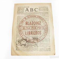 Coleccionismo de Revistas y Periódicos: DIARIO REPUBLICANO DE IZQUIERDAS ABC MADRID. BANDO REPUBLICANO. 22 DE OCTUBRE 1938. GUERRA CIVIL. Lote 222374328