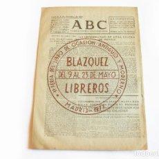 Coleccionismo de Revistas y Periódicos: DIARIO REPUBLICANO DE IZQUIERDAS ABC MADRID. BANDO REPUBLICANO. 5 DE NOVIEMBRE DE 1938. GUERRA CIVIL. Lote 222374531