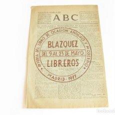 Coleccionismo de Revistas y Periódicos: DIARIO REPUBLICANO DE IZQUIERDAS ABC MADRID. BANDO REPUBLICANO. 12 NOVIEMBRE DE 1938. GUERRA CIVIL. Lote 222374835