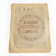 Coleccionismo de Revistas y Periódicos: DIARIO REPUBLICANO DE IZQUIERDAS ABC MADRID. BANDO REPUBLICANO. 25 DICIEMBRE DE 1938. GUERRA CIVIL. Lote 222375366