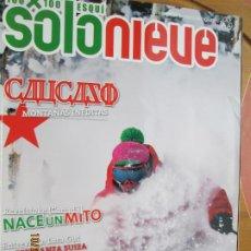 Coleccionismo de Revistas y Periódicos: REVISTA SOLO NIEVE - Nº 54 - INVIERNO 2009 - REVELSTOKE CANADA, LARA GUT ..... Lote 222393137