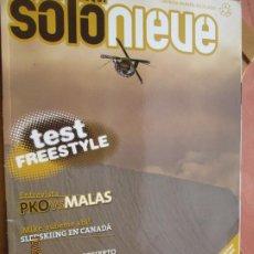 Coleccionismo de Revistas y Periódicos: REVISTA SOLO NIEVE - Nº 52 - INVIERNO 2009 - MOAB LAS NIEVES DEL DESIERTO, CANADÁ .... Lote 222393571
