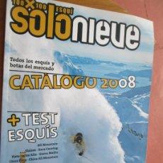 Coleccionismo de Revistas y Periódicos: REVISTA SOLO NIEVE - Nº 12 - CATÁLOGO INVIERNO 2008 - TODOS LOS ESQUÍS Y BOTAS ..... Lote 222393876