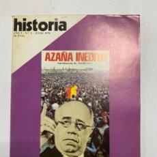 Coleccionismo de Revistas y Periódicos: HISTORIA 16. AÑO I. Nº 3. JULIO, 1976. AZAÑA INEDITO. INTRODUCCION DE MARICHAL. PAGS: 145. Lote 222444850