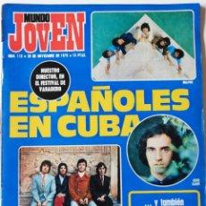 Coleccionismo de Revistas y Periódicos: REVISTA MUNDO JOVEN Nº 113 LOS ANGELES JANIS JOPLIN MELANIE GUILLERMINA MOTTA BLUME VARADERO 70. Lote 222445052