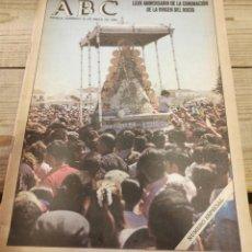 Coleccionismo de Revistas y Periódicos: NUMERO ESPECIAL DE ABC.-LXXV ANIVERSARIO DE LA CORONACION DE LA VIRGEN DEL ROCIO.-. Lote 222525017