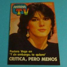 Coleccionismo de Revistas y Periódicos: REVISTA ANTENA TV. Nº 178 NOV. 1983. PASTORA VEGA. Lote 222573683