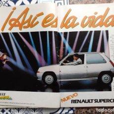 Coleccionismo de Revistas y Periódicos: ANUNCIO RENAULT SUPERCINCO GT. Lote 222682097