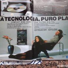Coleccionismo de Revistas y Periódicos: ANUNCIO SONY TECHNOLOGICS. Lote 222683041