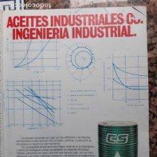 Coleccionismo de Revistas y Periódicos: ANUNCIO ACEITE CS. Lote 222685320