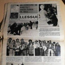 Coleccionismo de Revistas y Periódicos: LLESSUI. VII CONCURS DE NINOTS I ESCULTURES DE NEU. 1978. Lote 222685518