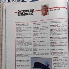 Coleccionismo de Revistas y Periódicos: JOSE LUIS COLL DICCIONARIO SEMANAL. Lote 222685522