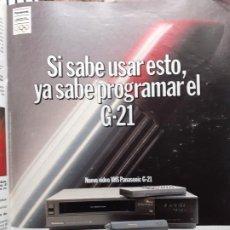 Coleccionismo de Revistas y Periódicos: ANUNCIO VHS PANASONIC. Lote 222685576