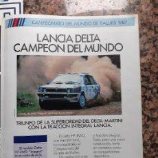 Coleccionismo de Revistas y Periódicos: ANUNCIO LANCIA DELTA. Lote 222685736